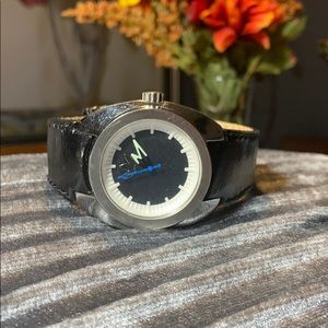 Adidas black and silver men's watch